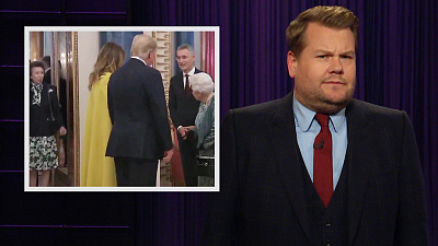 The Late Late Show with James Corden - Princess Anne, Trudeau Shade President Trump