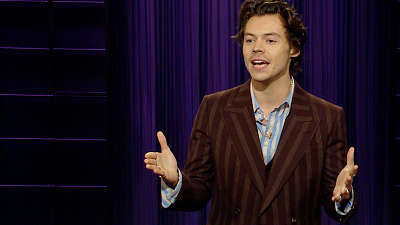 The Late Late Show with James Corden - Harry Styles on the Articles of Impeachment (Thanks a Lot, James)