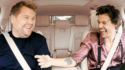 The Late Late Show with James Corden - Harry Styles & James Corden Carpool to Work