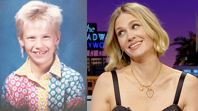 The Late Late Show with James Corden - January Jones's 4th Grade Haircut Was Next-Level