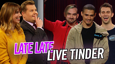 The Late Late Show with James Corden - Late Late Live Tinder