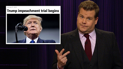 The Late Late Show with James Corden - Senate Impeachment Rules the Day