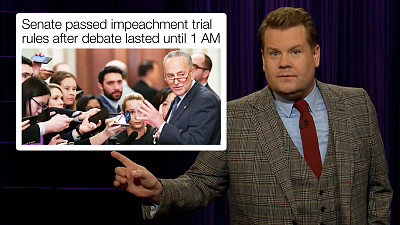 The Late Late Show with James Corden - Impeachment Day 1: After Dark Edition