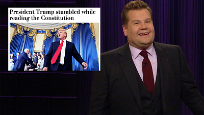 The Late Late Show with James Corden - Can You Love the Constitution If You Can't Read It?