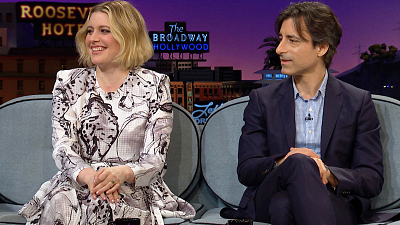 The Late Late Show with James Corden - Greta Gerwig & Noah Baumbach Are Oscars Rivals