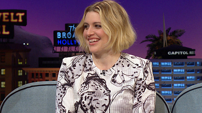 The Late Late Show with James Corden - Greta Gerwig Channeled Marishka Hargitay During Pregnancy