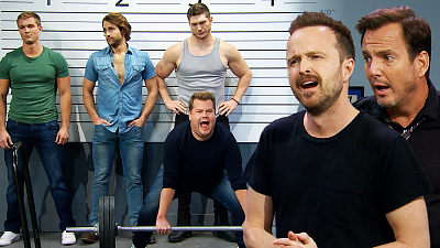 The Late Late Show with James Corden - James Insists He's the Sexy Suspect w/ Aaron Paul & Will Arnett