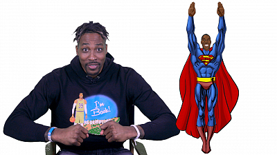 """The Late Show with Stephen Colbert - NBA Superhero Alter Egos With Dwight """"Superman"""" Howard"""