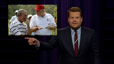 The Late Late Show with James Corden - Bernie Goes After Bloomberg Ahead Of Vegas Debate