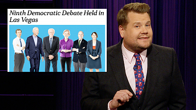 The Late Late Show with James Corden - Democrats Go 'All in' For Vegas Debate