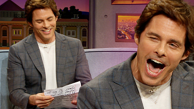 The Late Late Show with James Corden - James Marsden Reads A Secret Letter From 'Sonic' Costar Ben Schwartz