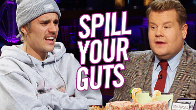 The Late Late Show with James Corden - Spill Your Guts or Fill Your Guts w/ Justin Bieber