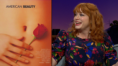 The Late Late Show with James Corden - Christina Hendricks Is The 'American Beauty' Hand