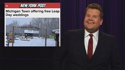 The Late Late Show with James Corden - Attention Deal Hunters: Free Leap Day Weddings In Hell!