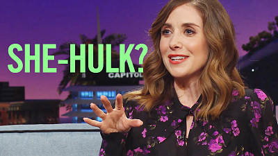"The Late Late Show with James Corden - Can Alison Brie Land The ""Alison Brie-Type"" She-Hulk Role?"
