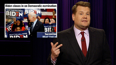 The Late Late Show with James Corden - The Bern That Keeps On Burning