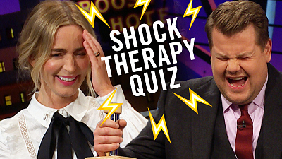 The Late Late Show with James Corden - Shock Therapy Quiz w/ Emily Blunt & James Corden