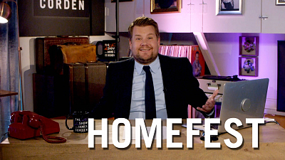 The Late Late Show with James Corden - James Corden Kicks Off #HomeFest from His Garage