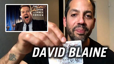 The Late Late Show with James Corden - David Blaine Performs Quarantine Magic - #HomeFest