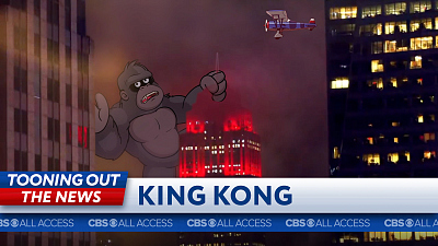 Tooning Out The News - King Kong makes a nonessential visit to the Empire State Building.