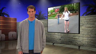Tosh.0 - August 13, 2009 - Skateboard Girl