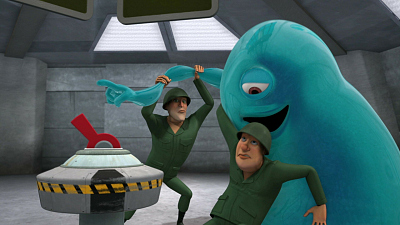Monsters vs. Aliens - Flipped Out/The Wormhole Has Turned
