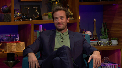 The Late Late Show with James Corden - 10/8/20 (Armie Hammer, Surfaces)