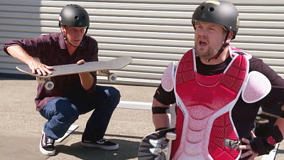 The Late Late Show with James Corden - Tony Hawk Heard James Corden Can Shred