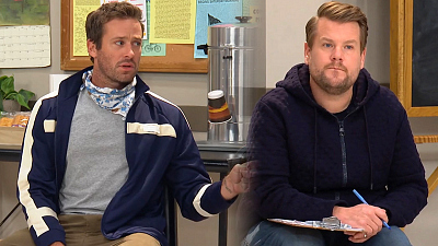 The Late Late Show with James Corden - Huggers In Quarantine Support Group w/ Armie Hammer