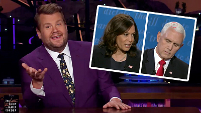 The Late Late Show with James Corden - The VP Debate Was All the Buzz