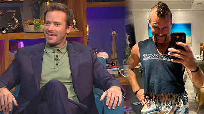 The Late Late Show with James Corden - Armie Hammer Committed to the Handlebar 'Stache