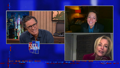 The Late Show with Stephen Colbert - 11/11/20 (Olivia Colman, Gillian Anderson, Kylie Minogue)