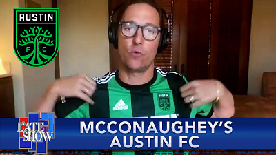 The Late Show with Stephen Colbert - Matthew McConaughey Names His Austin FC Starting XI Of Austin Natives