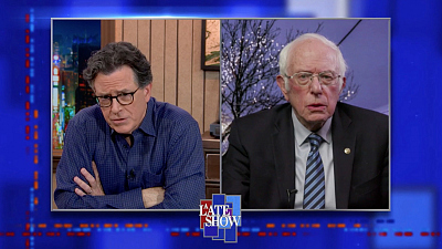 """The Late Show with Stephen Colbert - """"The Essence Of This Crisis Is The Perpetuation Of This Huge Lie"""" - Sen. Bernie Sanders"""