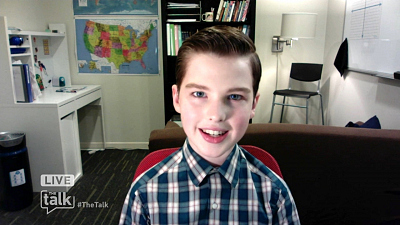 The Talk - Iain Armitage Says 'Young Sheldon' is a 'wreck' on First Day of College