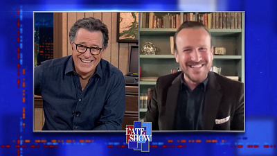 """The Late Show with Stephen Colbert - """"You Were A Big Part Of My Childhood"""" - Young People, To Jason Segel"""