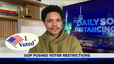The Daily Show with Trevor Noah - The Daily Social Distancing Show - February 23, 2021