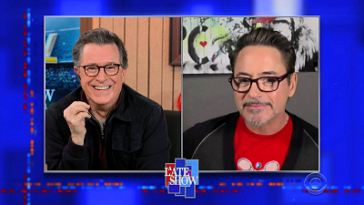 The Late Show with Stephen Colbert - 3/22/21 (Robert Downey Jr., Walter Isaacson, Sebastian Yatra, Guaynaa)