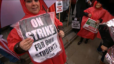 CBS This Morning - L.A. teachers strike enters 2nd day
