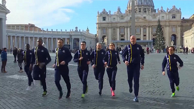 CBS This Morning - Godspeed: Vatican track team runs first race