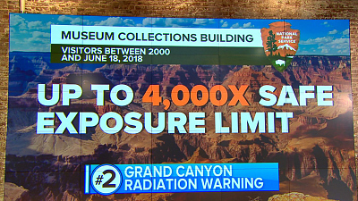 CBS This Morning - Grand Canyon tourists radiation exposure: report