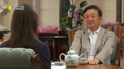 CBS This Morning - Huawei founder says he would defy Chinese law