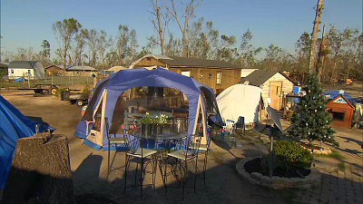 CBS This Morning - 6 months after Michael, people still in tents