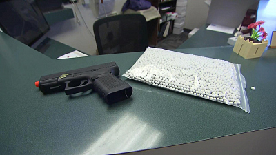 CBS This Morning - Teachers shot with airsoft guns during drill