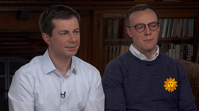 CBS This Morning - Pete Buttigieg and husband Chasten on 2020
