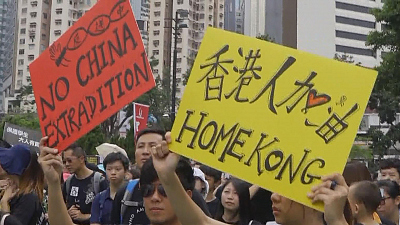 CBS This Morning - Demonstrators flood streets of Hong Kong