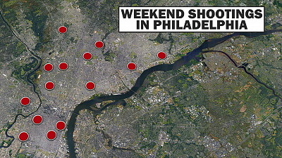 CBS This Morning - 16 incidents of gun violence in Philadelphia