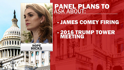 CBS This Morning - Hope Hicks to testify before Congress
