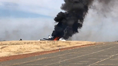 CBS This Morning - All passengers survive fiery CA plane crash