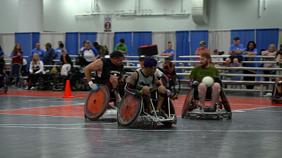 CBS This Morning - Veterans find an outlet in wheelchair rugby